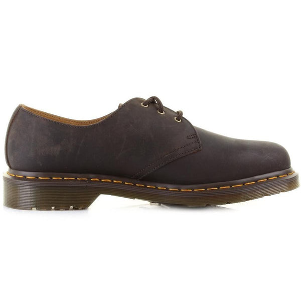 Dr.Martens 1461 3 Eyelet Crazy Horse Brown Mens Shoes#color_brown