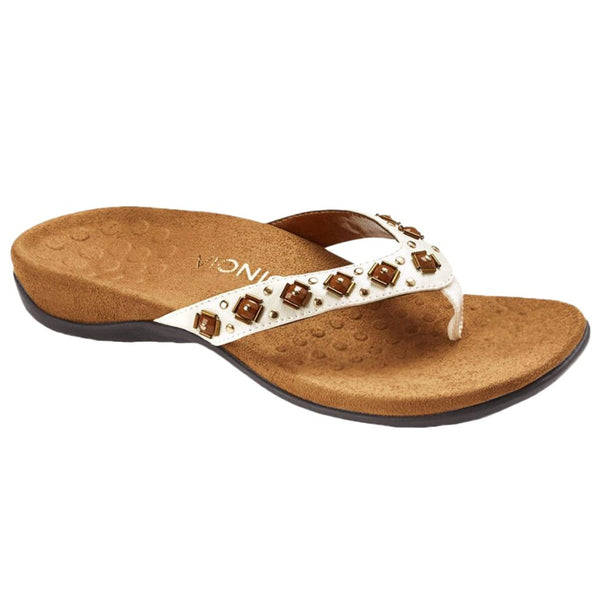 Vionic Floriana White Womens Sandals#color_white