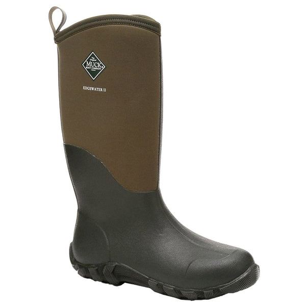 Muck Womens Edgewater II Tall Rubber Boots#color_moss