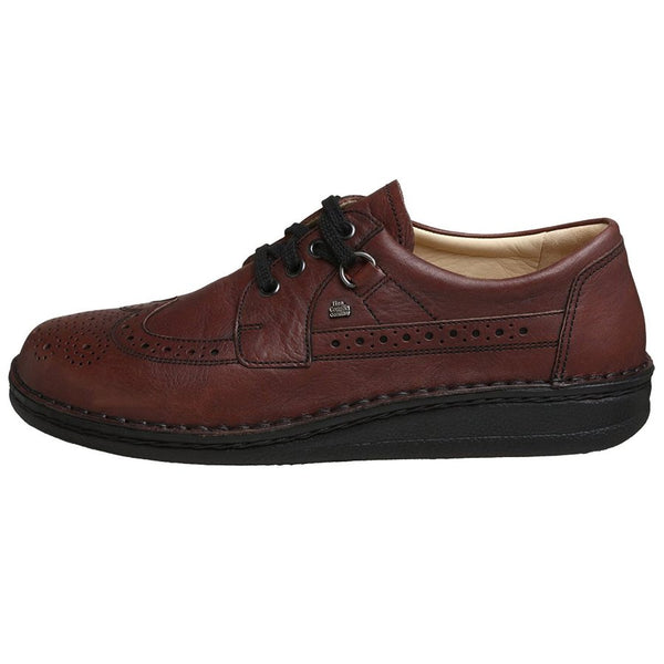 Finn Comfort York Dark Brown Mens Shoes#color_dark brown
