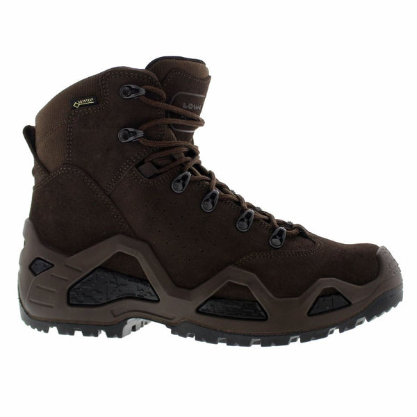 Lowa Z-6S Gore-Tex Dark Brown Mens Boots#color_dark brown