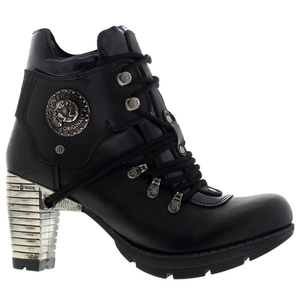 New Rock M.TR010-S1 Black Womens Boots#color_black