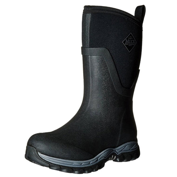 Muck Arctic Sport II Mid Black Womens Boots#color_black