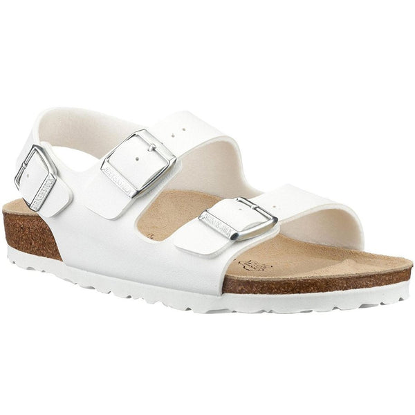 Birkenstock Milano White Mens Sandals#color_white
