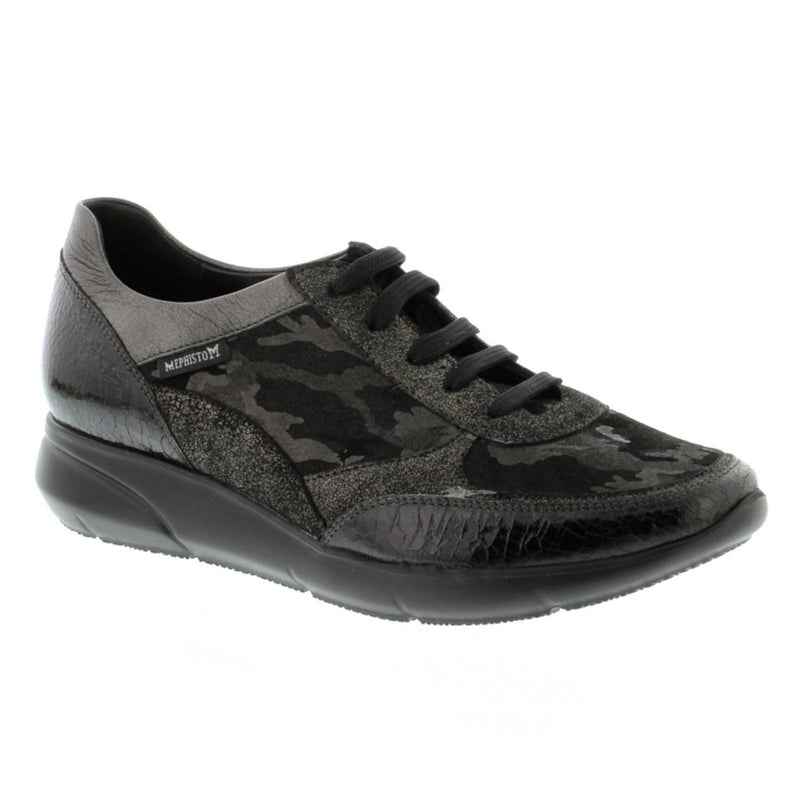 Mephisto Diane Black Womens Trainers