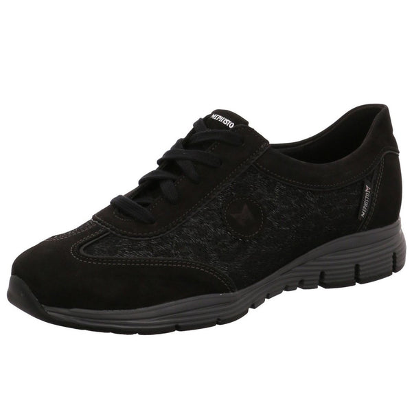 Mephisto Yael Black Womens Trainers#color_black