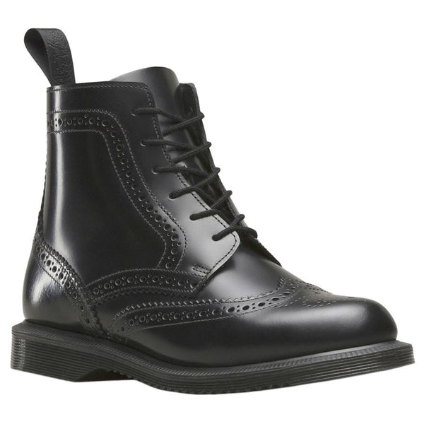 Dr.Martens Delphine 6 Eyelet Black Womens Boots#color_black