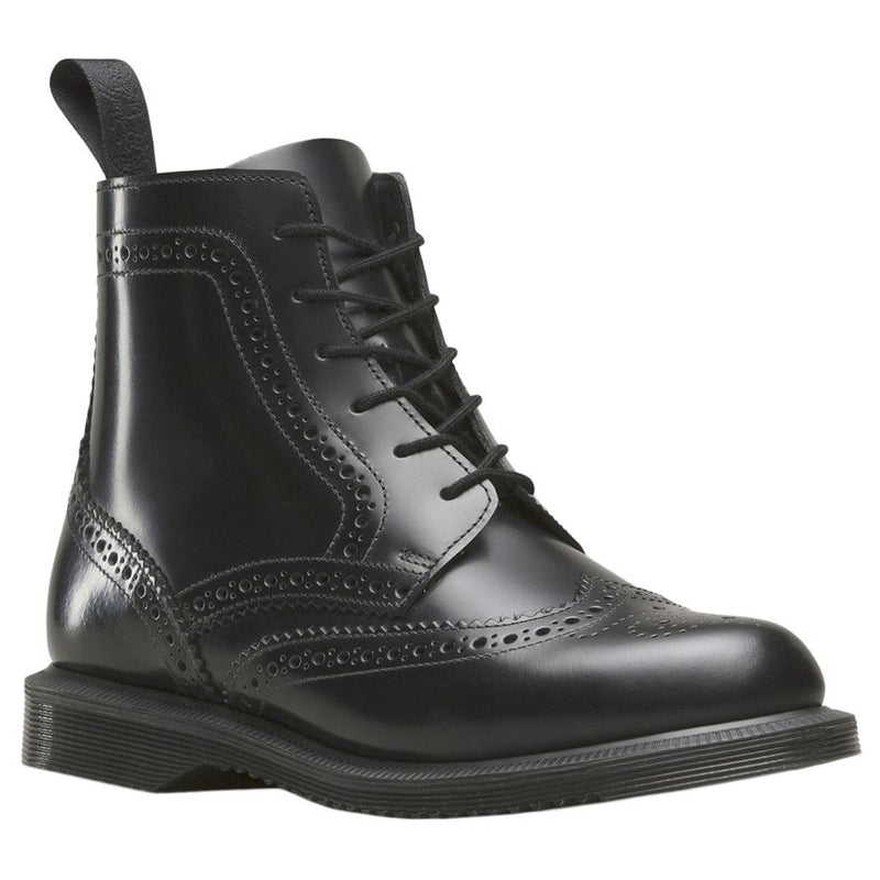 Dr.Martens Delphine 6 Eyelet Black Womens Boots