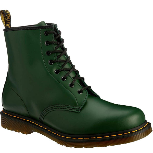 Dr.Martens 1460 8 Eyelet Green Womens Boots#color_green