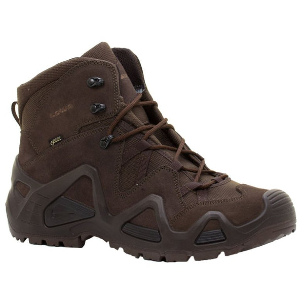 Lowa Mens Zephyr Gore-Tex Mid Task Force Suede Boots#color_dark brown