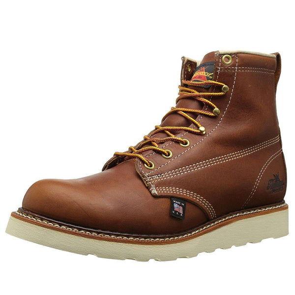 Thorogood 6'' Plain Toe Wedge 814-4355 Tobacco Mens Boots#color_tobacco