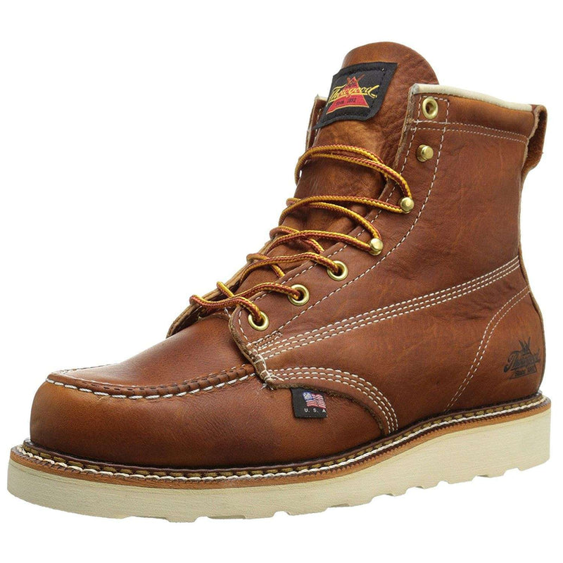 Thorogood 6'' Moc Toe Wedge 814-4200 Tobacco Mens Boots
