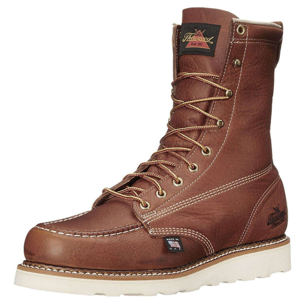 Thorogood 8'' Moc Toe Wedge 814-4201 Tobacco Mens Boots#color_tobacco