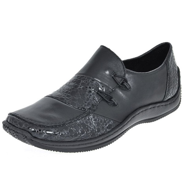 Rieker L1762-48 Black Womens Shoes#color_black