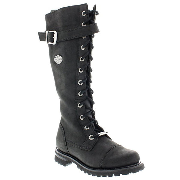 Harley Davidson Savannah Black Womens Boots#color_black