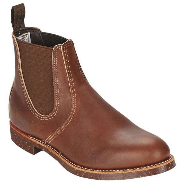 Red Wing Mens Rancher Chelsea 8201 Leather Boots#color_brown