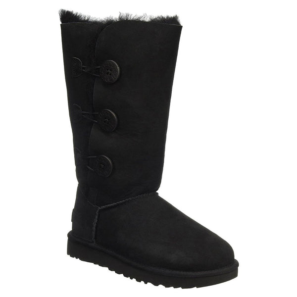 Ugg Australia Womens Bailey Button Triplet II Sheepskin Boots#color_black