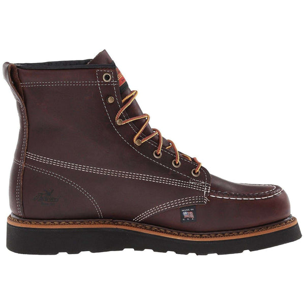 Thorogood Mens 6 Inch Moc Toe 814-4266 Leather Boots#color_black walnut