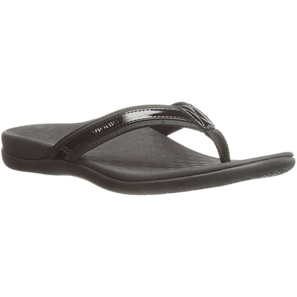 Vionic IN44 Islander Leather Textile Womens Sandals#color_black