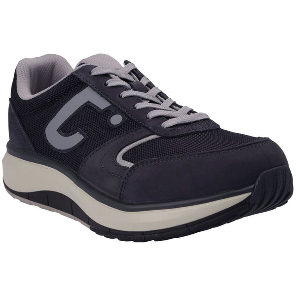 Joya Cancun Nubuck Mesh Mens Trainers#color_dark navy