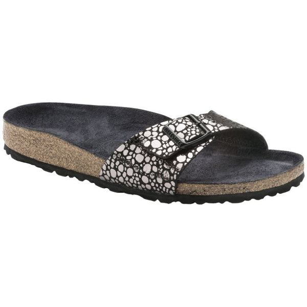 Birkenstock Madrid Birko-flor Womens Sandals#color_metallic stones black