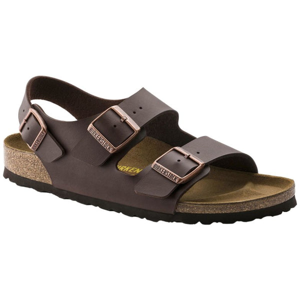 Birkenstock Milano Birko-flor Mens Sandals#color_dark brown