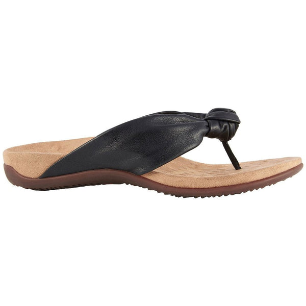 Vionic Rest Pippa Leather Womens Sandals#color_black