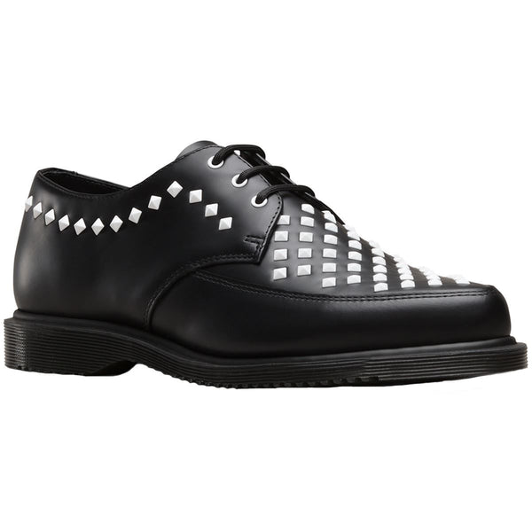 Dr.Martens Willis 3-Eyelet Leather Womens Shoes#color_black