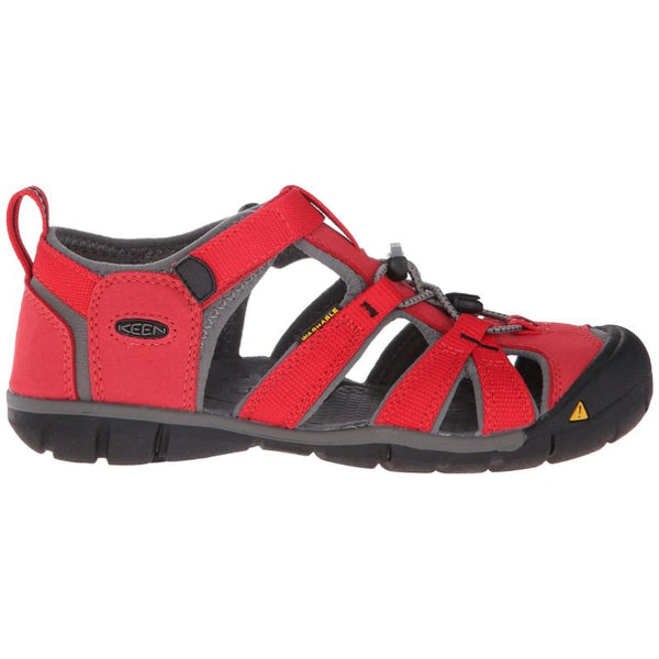 Keen Seacamp II CNX Synthetic Kids Sandals#color_racing red gargoyle