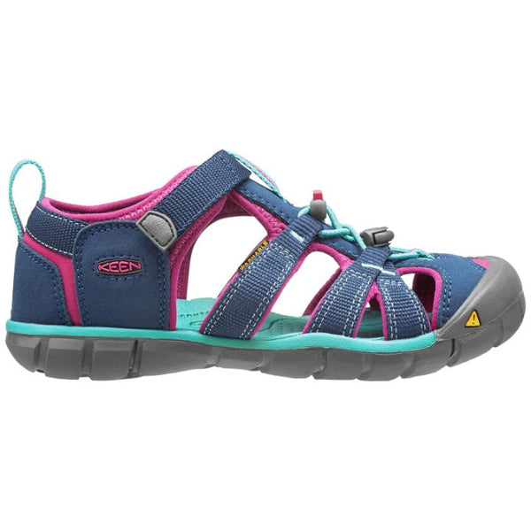 Keen Seacamp II CNX Synthetic Kids Sandals#color_poseidon very berry