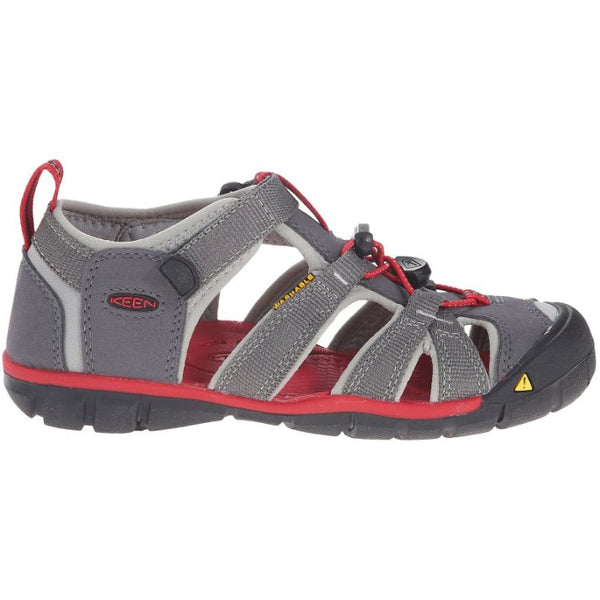 Keen Seacamp II CNX Synthetic Kids Sandals#color_magnet racing red