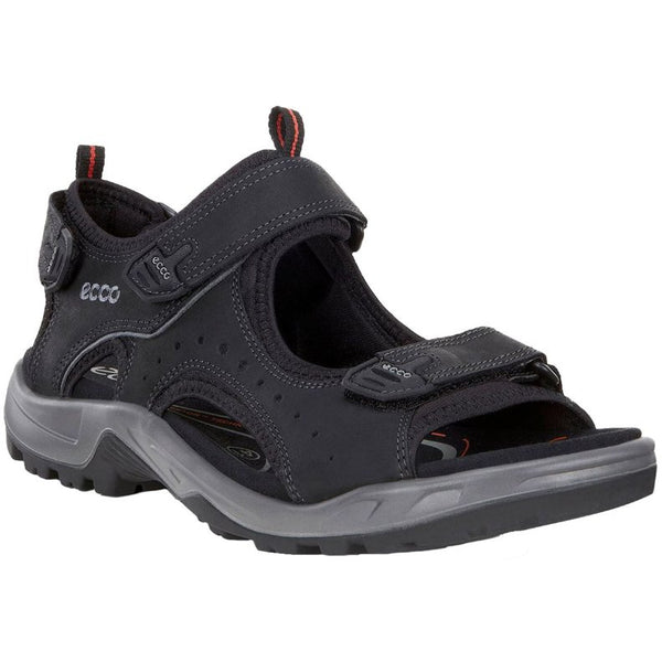 Ecco Offroad Nubuck Mens Sandals#color_black
