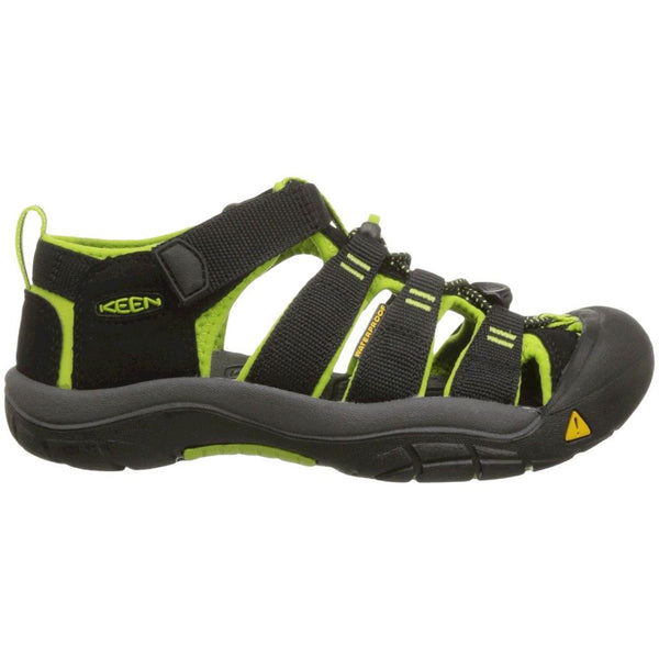 Keen Newport H2 Synthetic Youth Sandals#color_black green lime