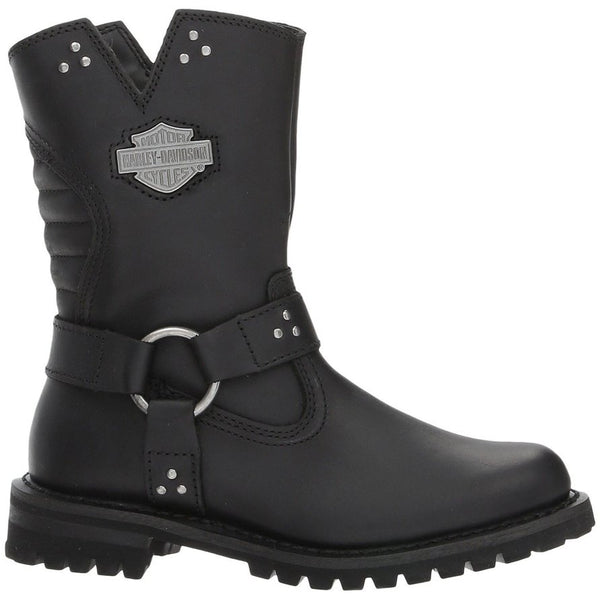 Harley Davidson Barford Leather Womens Boots#color_black