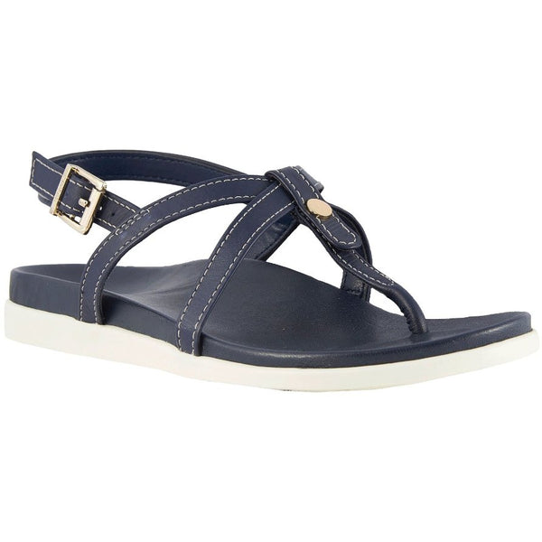 Vionic Palm Veranda Other Leather Womens Sandals#color_navy