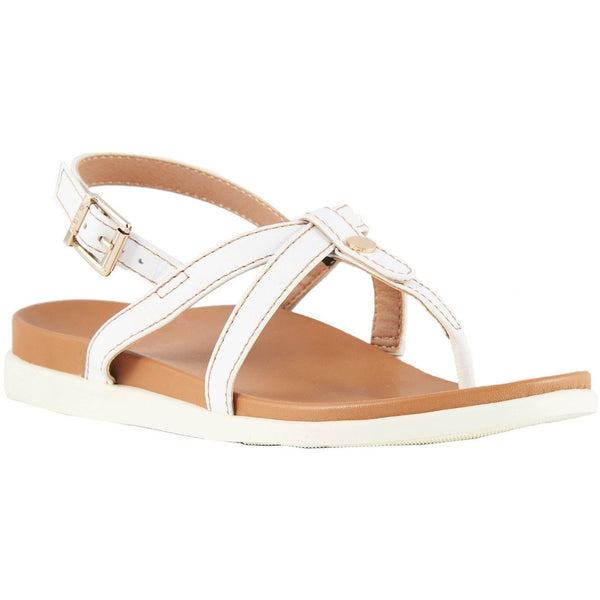 Vionic Palm Veranda Other Leather Womens Sandals#color_white