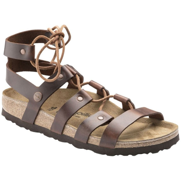 Papillio by Birkenstock Cleo Other Leather Womens Sandals#color_cognac