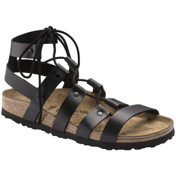 Papillio by Birkenstock Cleo Other Leather Womens Sandals#color_black