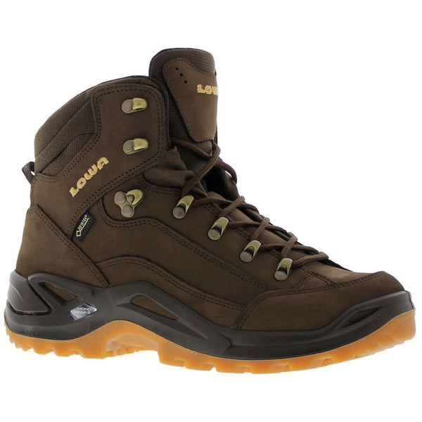 Lowa Renegade Mid Gore-Tex Nubuck Leather Womens Boots#color_espresso honey