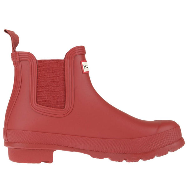 Hunter Original Chelsea Rubber Womens Boots#color_military red