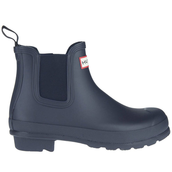 Hunter Original Chelsea Rubber Womens Boots#color_navy