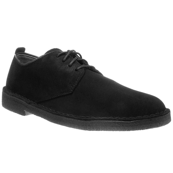 Clarks Originals Desert London Suede Leather Mens Shoes#color_black