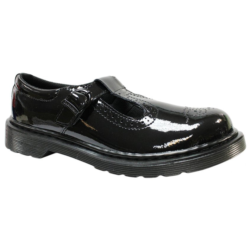 Dr.Martens Polley Brogue Leather Kids Shoes