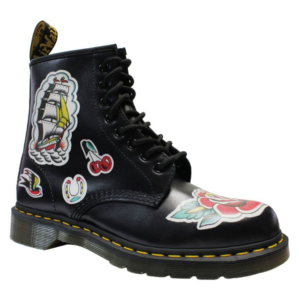 Dr.Martens 1460 Chris 8-Eyelet Leather Womens Boots#color_black multi