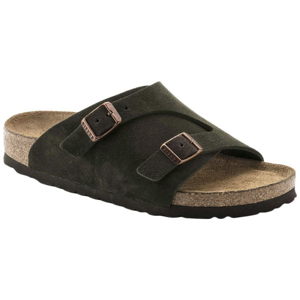 Birkenstock Zurich Soft Footbed Leather Unisex Sandals#color_mocha