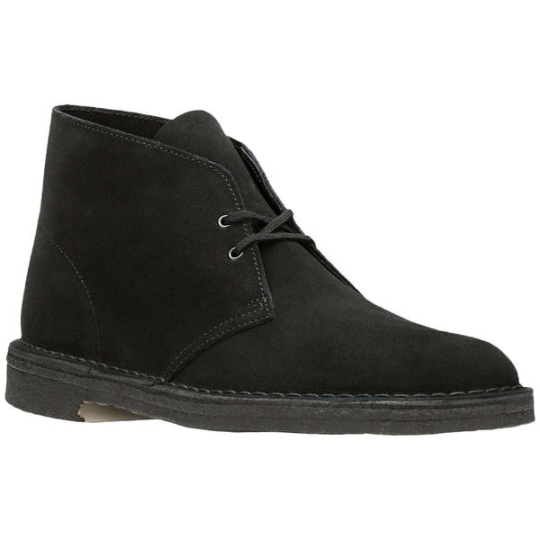Clarks Originals Desert Boot Suede Mens Boots#color_black