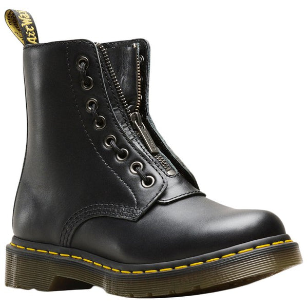 Dr.Martens 1460 Pascal Front Zip Nappa Leather Womens Boots#color_black