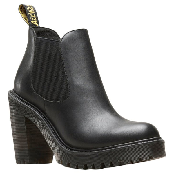 Dr.Martens Hurston Sendal Leather Womens Boots#color_black