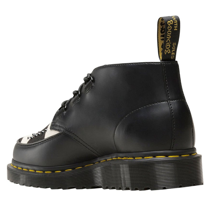 Dr.Martens Ramsey Chukka Polished Smooth Leather-Friesian Hair On Unisex Boots