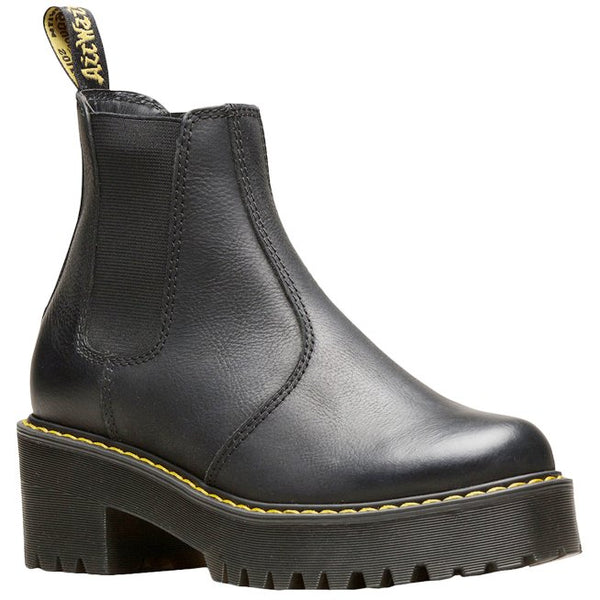 Dr.Martens Rometty Wyoming Leather Womens Boots#color_black